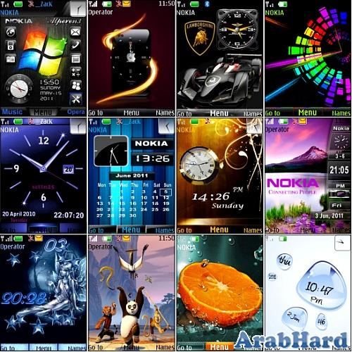 تحميل ثيمات لموبايل نوكيا 2012 جديدة Themes for Nokia S40